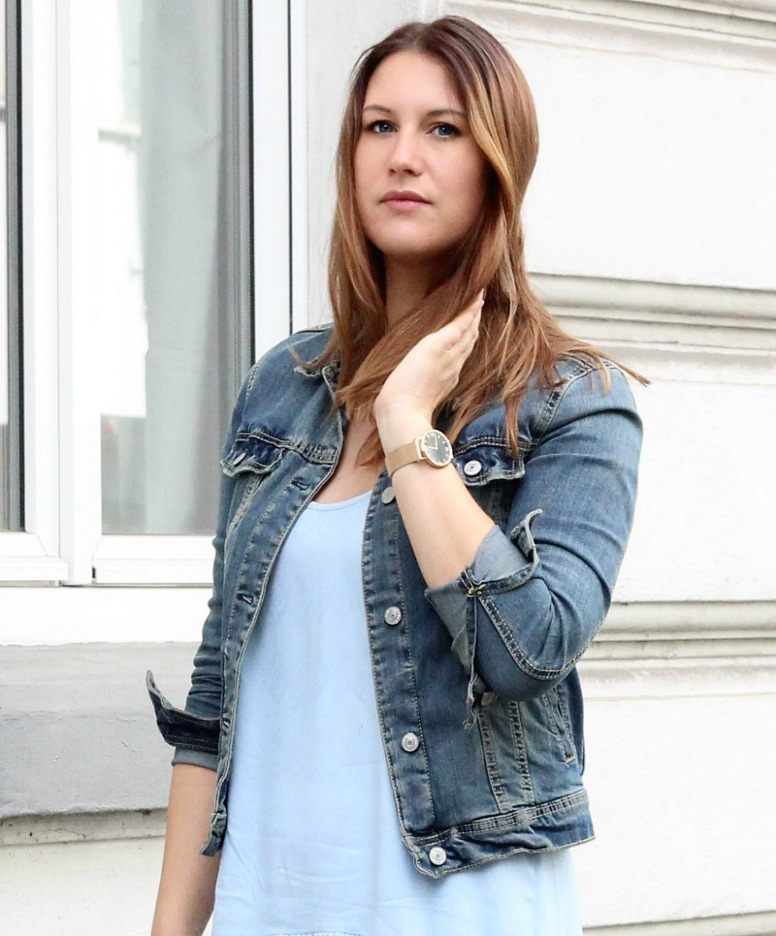 Fashionblog Koeln_Modeblog_Blaues Kleid_Jeansjacke_5